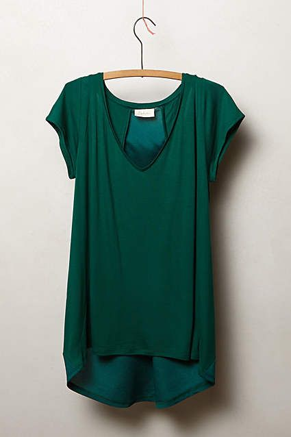 gorgeous emerald green tee by Anthropologie