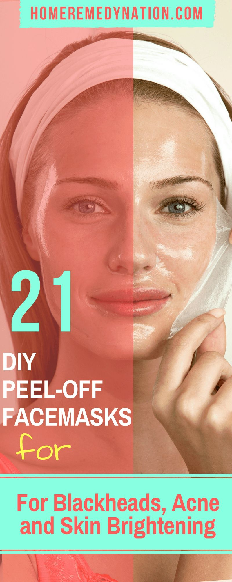21 DIY Peel Off Face Masks For Blackheads, Acne and Skin