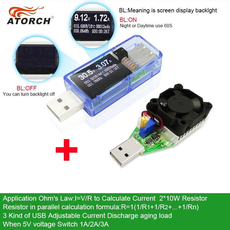 9 in 1 QC2.0 3.0 MTK-PE 3.6~32V Digital USB tester DC voltmeter current voltage