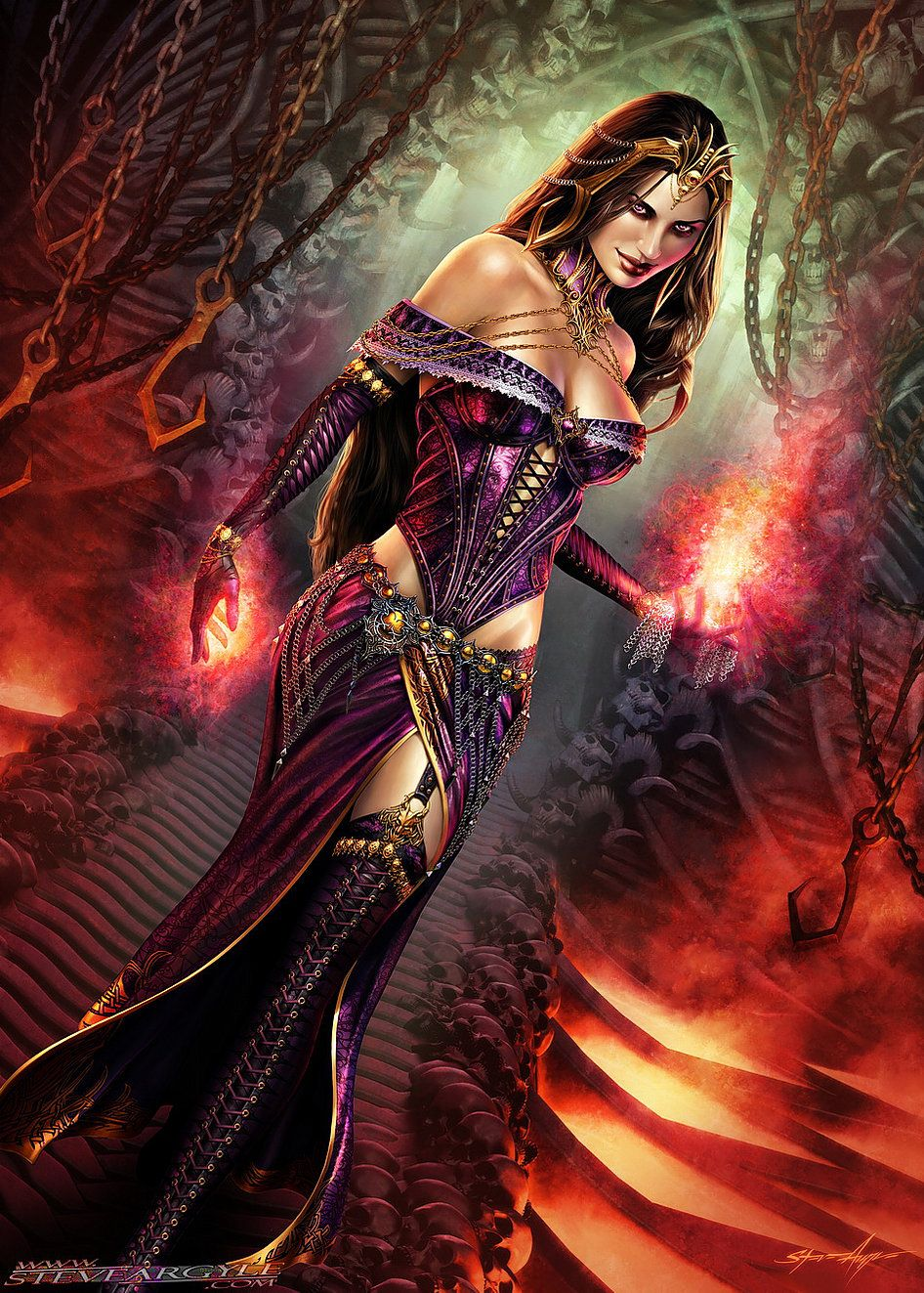 Liliana Of The Veil For Magic The Gathering Artwork By Steve