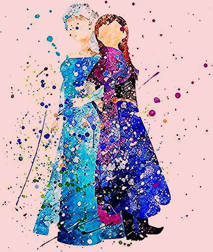 Photo of Elsa and Anna, Frozen Type 2 Print