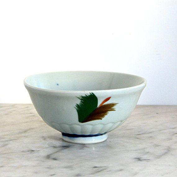 Vintage Painted Ceramic Bowl by jillbent on Etsy, $10.00