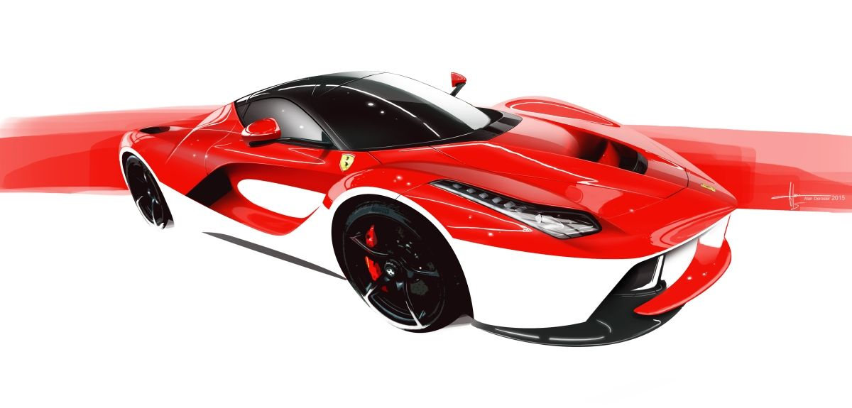 La Ferrari By Alan Derosier カーデザイン フェラーリ 汽车