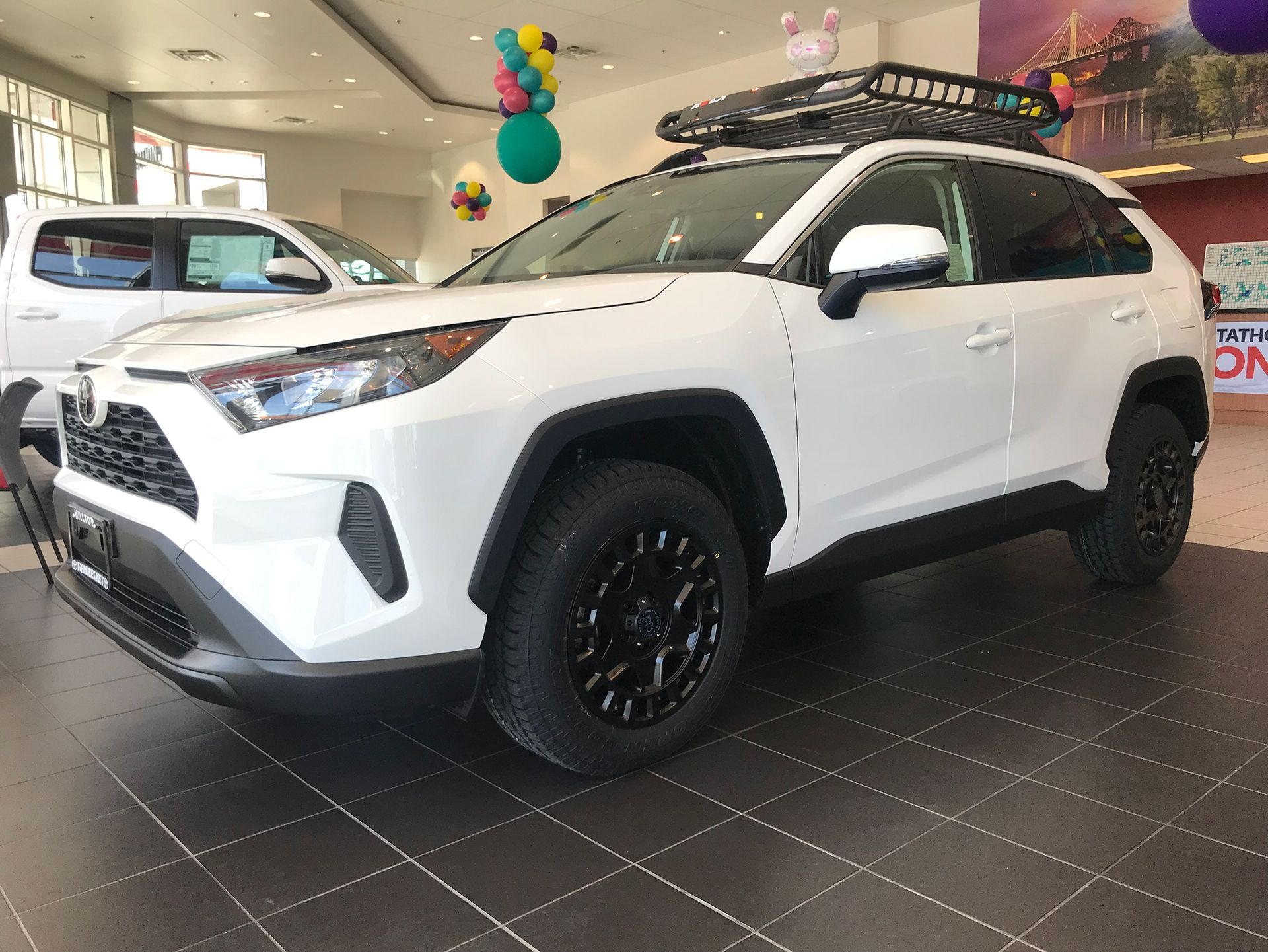 2019 Toyota Rav4 With 17 Black Rhino York S Wrapped In Toyo Open Country A T Ii 2019 Cvdauto Toyota Rav4 Mazda Suv Rav4 Offroad Toyota Rav4