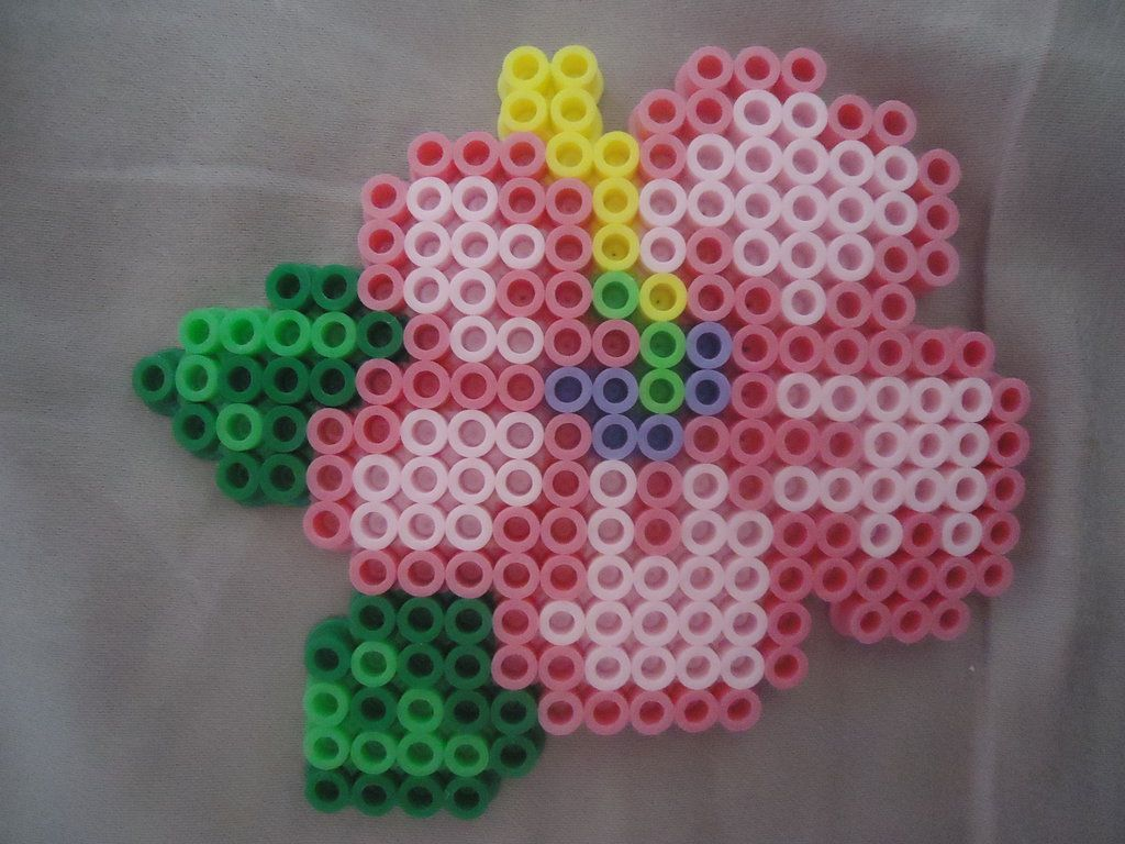 Hibiscus perler beads by *PerlerHime on deviantART