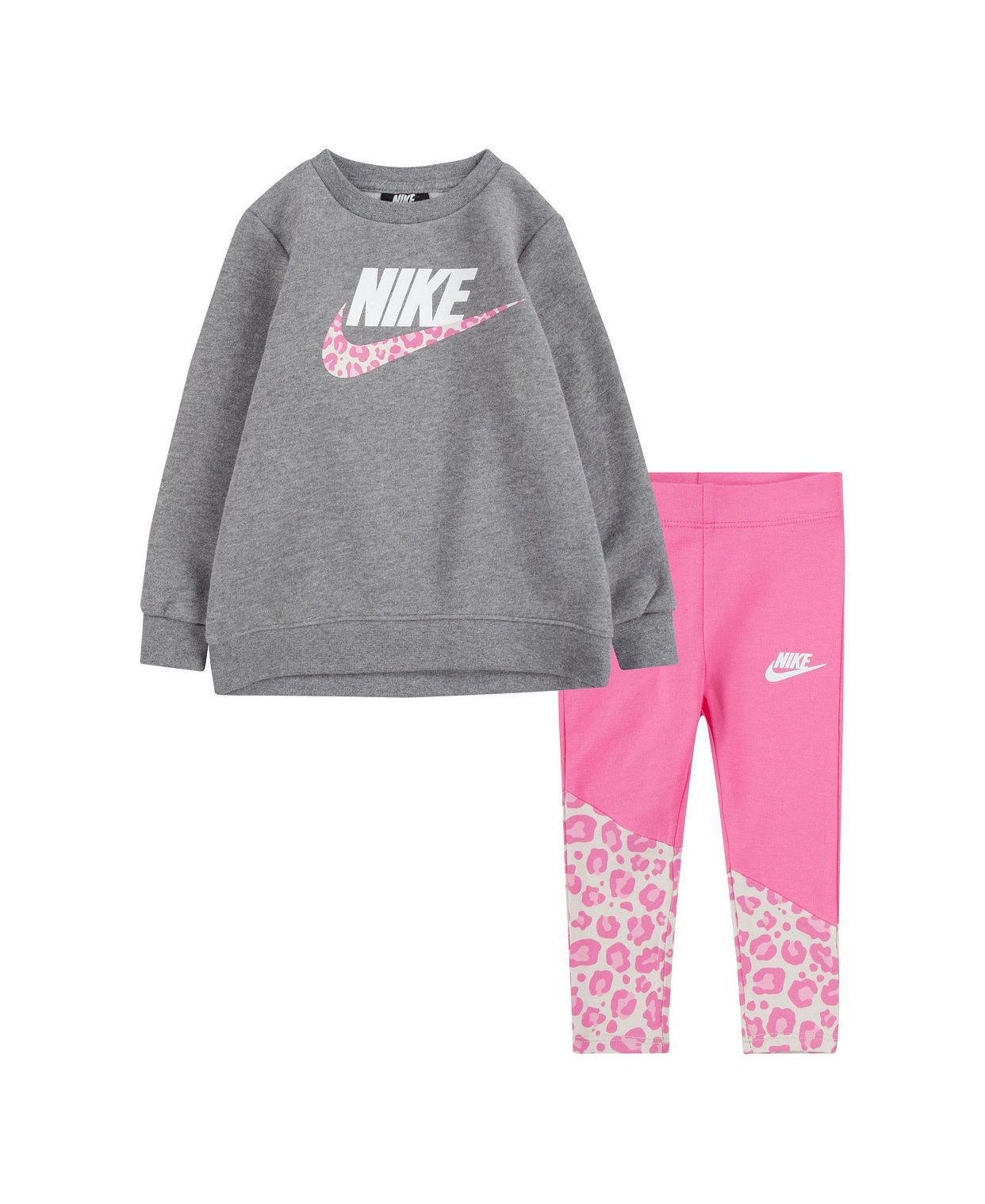 6M-12M-18M-2T Girls Infant 2 or 3 Piece Top /& Stretch Leggings