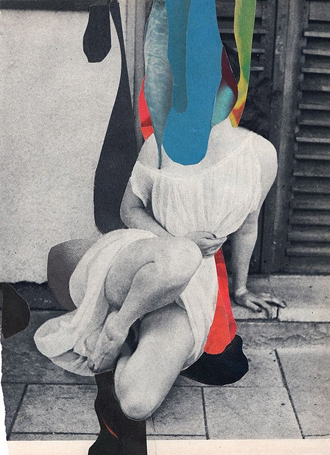 Collage by Charles Wilkin † #art #collage #faceless #paper #CollageArt #CharlesWilkin