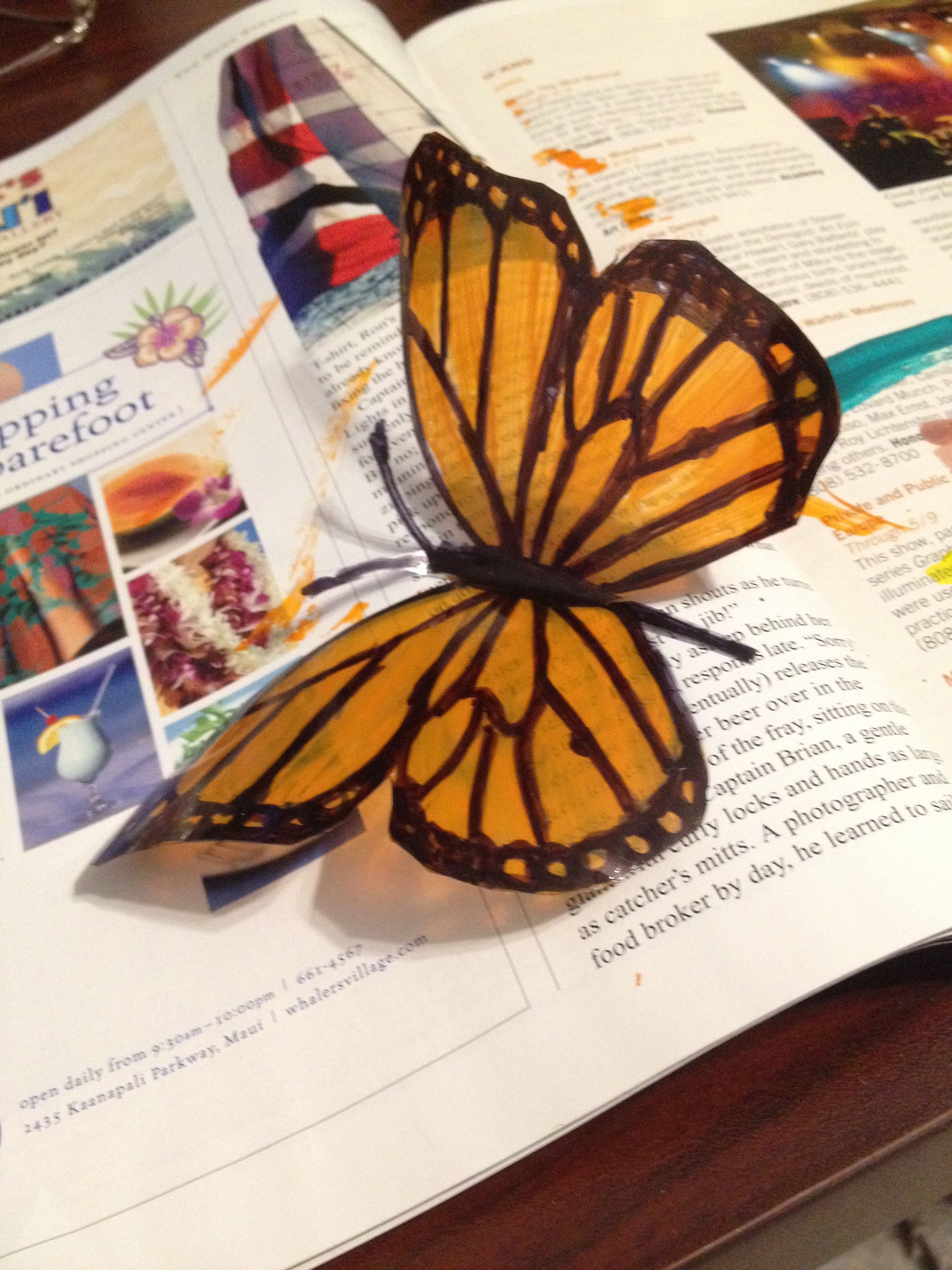 Butterflies from a plastic bottle with their own hands. Butterfly Patterns 46