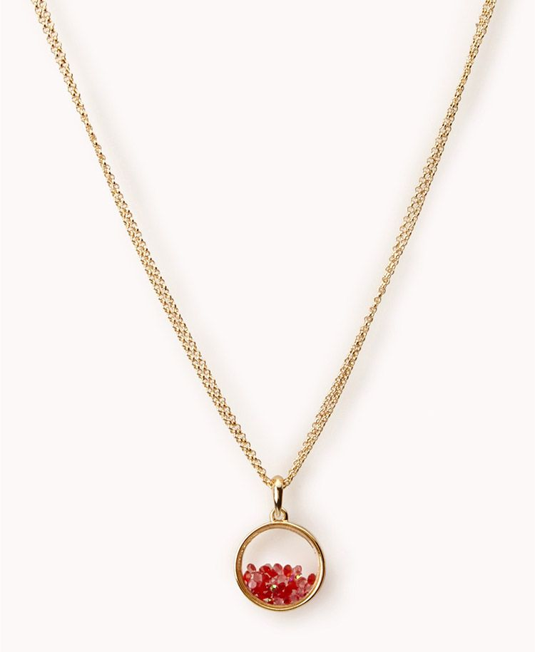 FOREVER21  Clear Pendant Necklace | - 1062660945