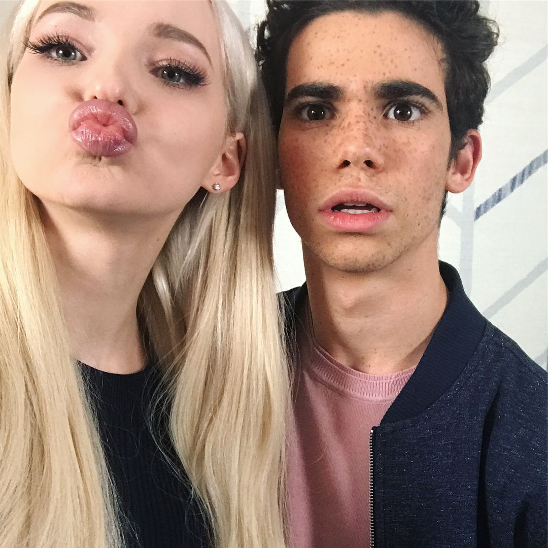 Image result for dove cameron and cameron boyce
