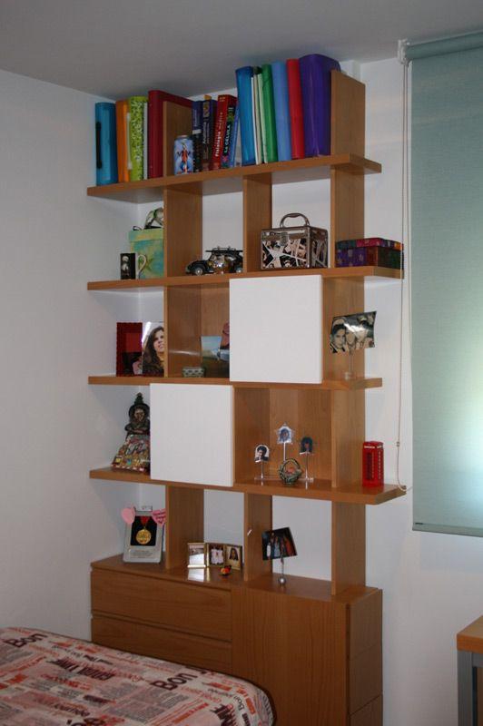 Diseño y fabricación a medida de estantería para dormitorio ...