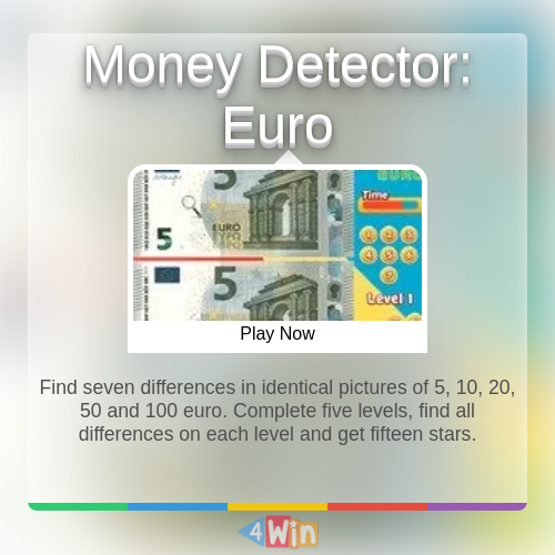 Money Detector Euro Game Free Online Games In 2020 Money Games Play Online Play Game Online