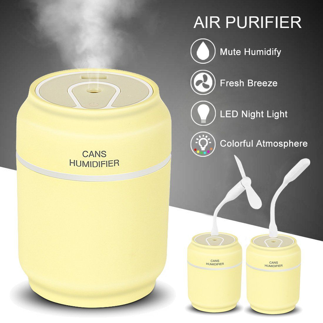 Ultrasonic Cool Mist Humidifier w/NIGHTLIGHT - Best Aromatherapy ...