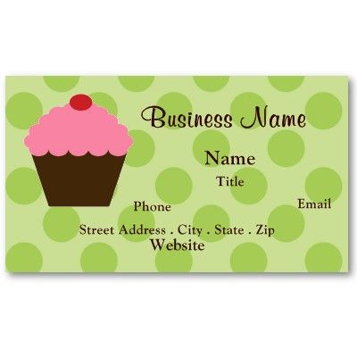 Cupcake business card business cards and business cupcake business card reheart Image collections
