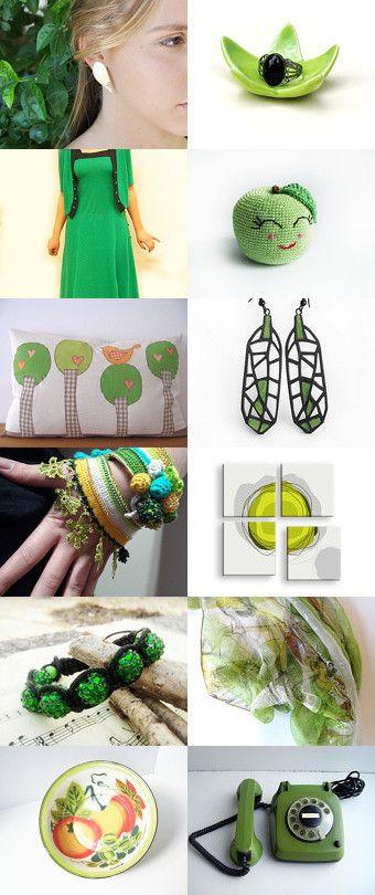 Spring Style by Jonas Kariniauskas on Etsy--Pinned with TreasuryPin.com #gifts #handmade #treasury #shopsmallbiz #sales #love #uniquegifts #jewelry #bracelet #shamballa #ala #discoball #sparkling #green