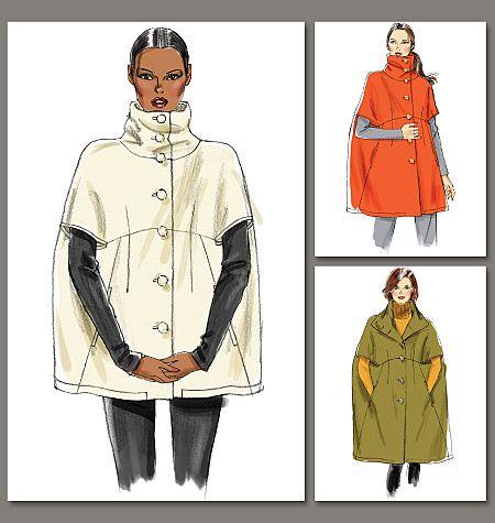 Pattern Reviews> Vogue Patterns> 8776 (Misses Cape)   fashion ...