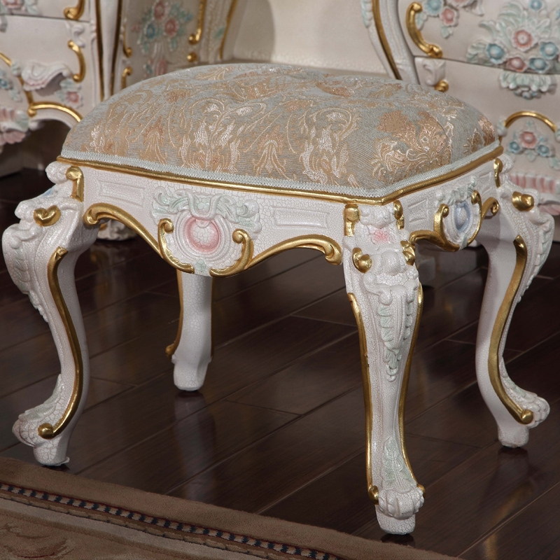 704.00$  Buy here - http://alinmz.worldwells.pw/go.php?t=613741350 - romantic furniture gift  furniture  - solid wood hand carving cracking paint dressing stool