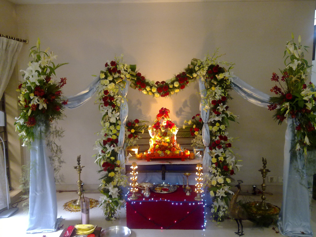 Get Amazing Ganesha Decoration Ideas For Ganesh Chaturthi Festival Decorate Your Ganapti With Flowers And Eco Friendly As Well
