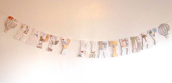 Book Party, childrens book shower, Happy Birthday Banner, vintage Book Banner, Book Birthday, Reading Birthday, Vintage Book Party, Happy Birthday
