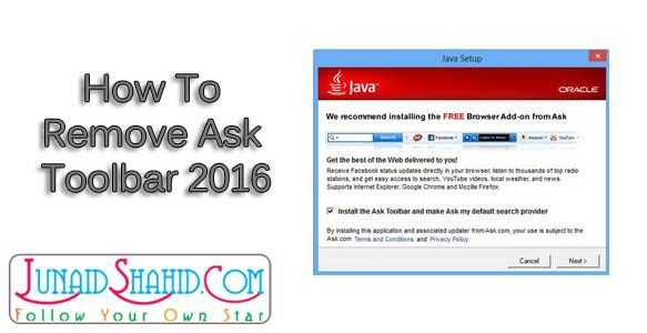 How To Remove Ask Toolbar 2016