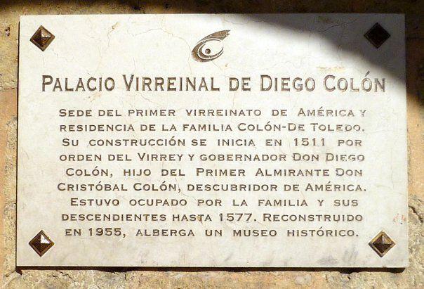 La plaque Colón en la República Dominicana.