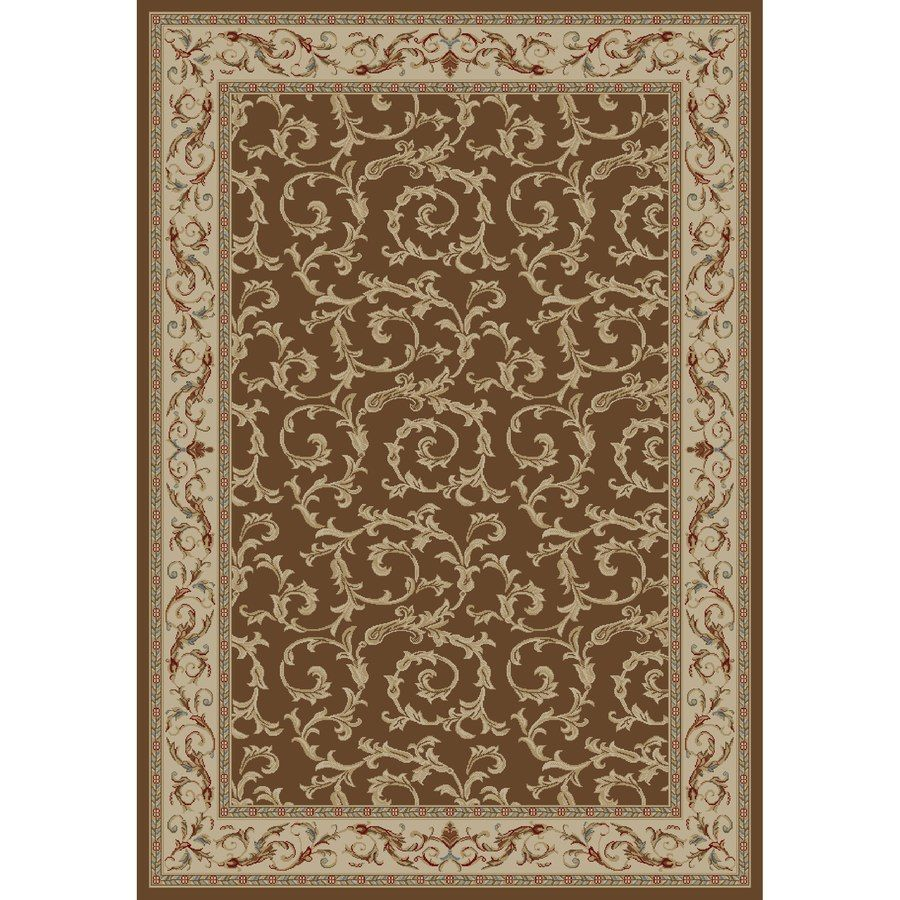 Concord Global Valencia Rectangular Brown Fl Woven Area Rug Common 9 Ft