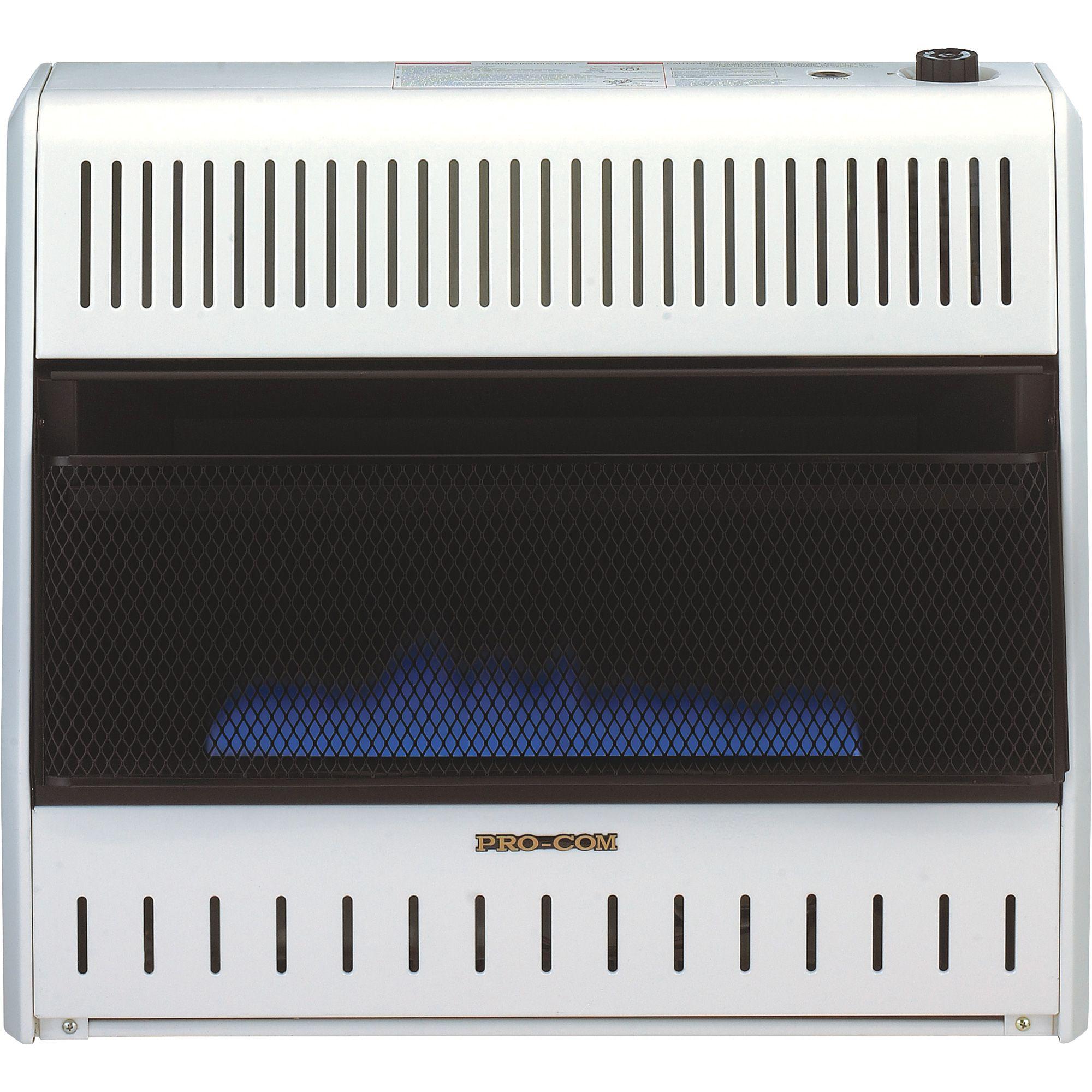 ProCom Vent-Free Dual Fuel Blue Flame Wall Heater