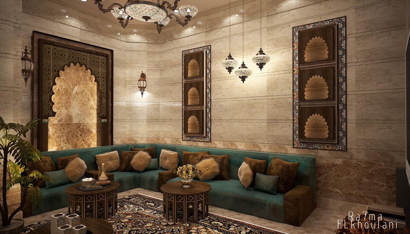 interior design moroccan sitting room in saudi arabia auto desk 3d max 2014 adobe photo. Black Bedroom Furniture Sets. Home Design Ideas