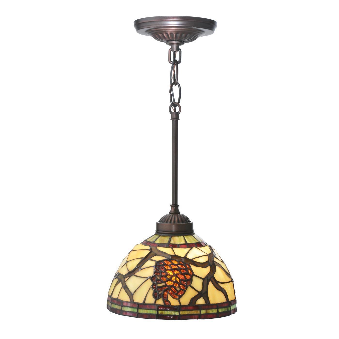 Meyda Tiffany 106290 Pinecone Dome Mini Pendant