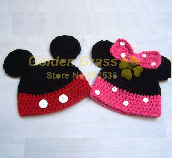 Mickey Mouse Crochet Hat Pattern Free   receipe   Pinterest   Blusas ...