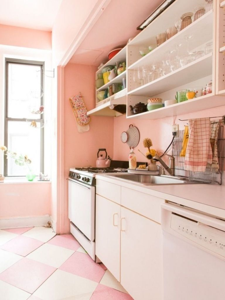 25 Romantic Pink Kitchen Color Scheme You Have To Know Pink