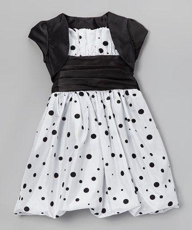 Look at this #zulilyfind! White Cummerbund Bubble Dress & Shrug - Toddler & Girls #zulilyfinds