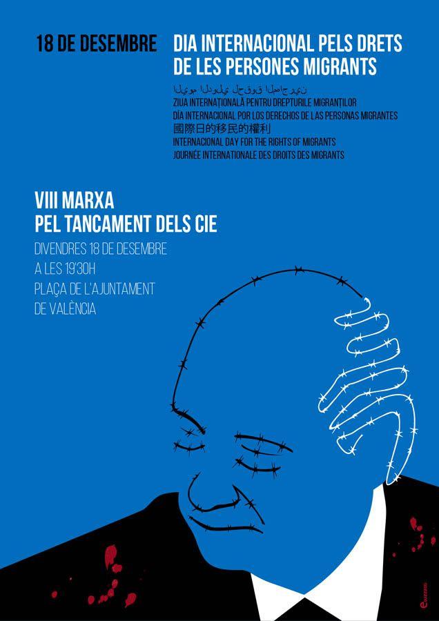 Jorge Fernández Díaz  - Poster for the International Migrants Day – 18th December. Author: Eduardo Luzzatti.