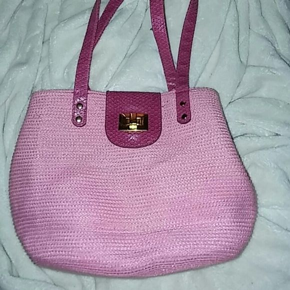 Pink Purse***DONATING WEEKEND*** Pink and insides green it's a very nice well made purse... Bags Hobos