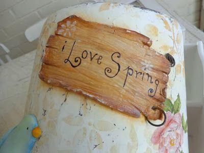 El Alma de Aurora......entre mis manos... vida, amor y arte...: MI primer Intercambio (swap) de Primavera, estilo Shabby ♥