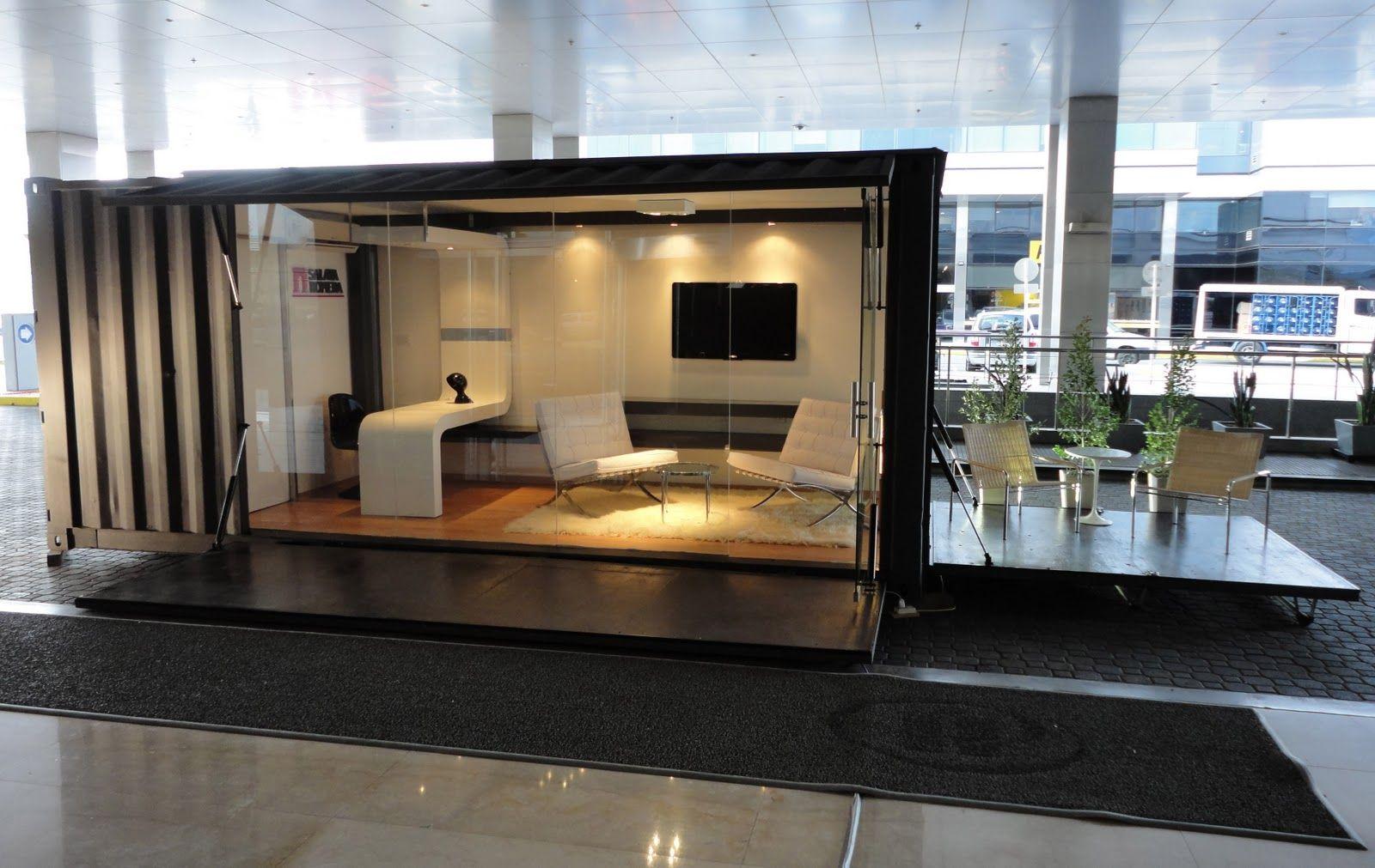 Eco office movil oficina dise ada con un container for Diseno de oficinas con contenedores