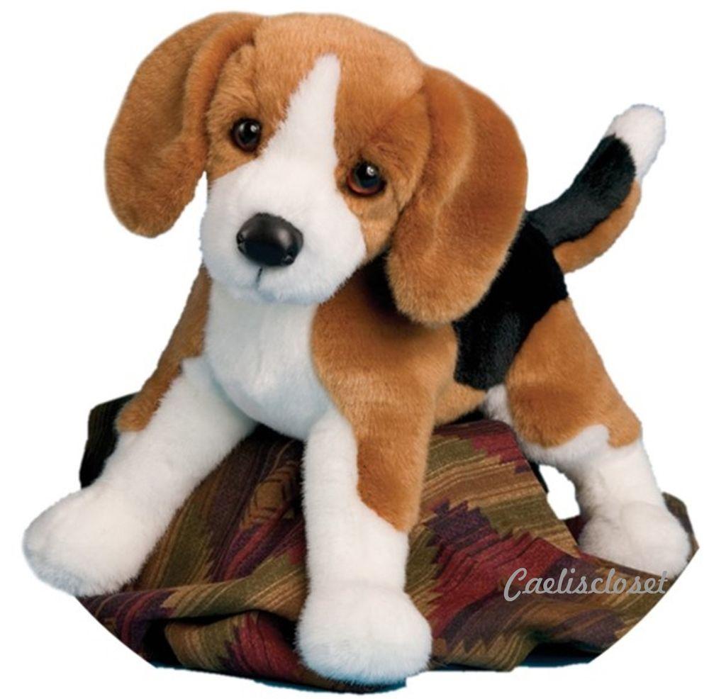 Douglas Bernie Beagle 14 Plush Stuffed Tri Color Hound Puppy Dog