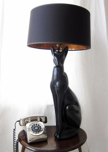70s Cat Lamp Cat Lamps Cat Lamp Cat Light Retro Lamp