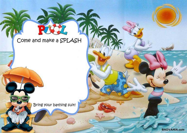 Free Mickey Mouse Summer Birthday Invitations Mickey Mouse Birthday Invitations Mickey Mouse Clubhouse Invitations Summer Birthday Invitations