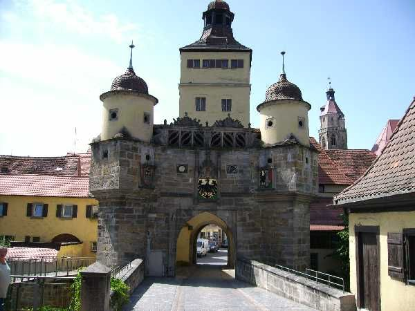 "Ellinger Tor at Weissenburg, Germany (""the gate leading to the town of Ellingen"")"