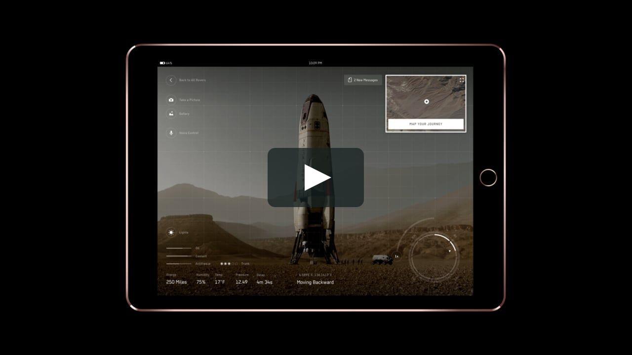 Design of the Mars rover tablet app Nasa rover, Mars