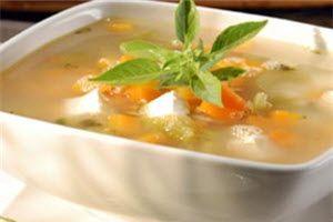 Elaboracion de la receta Caldo de Pollo