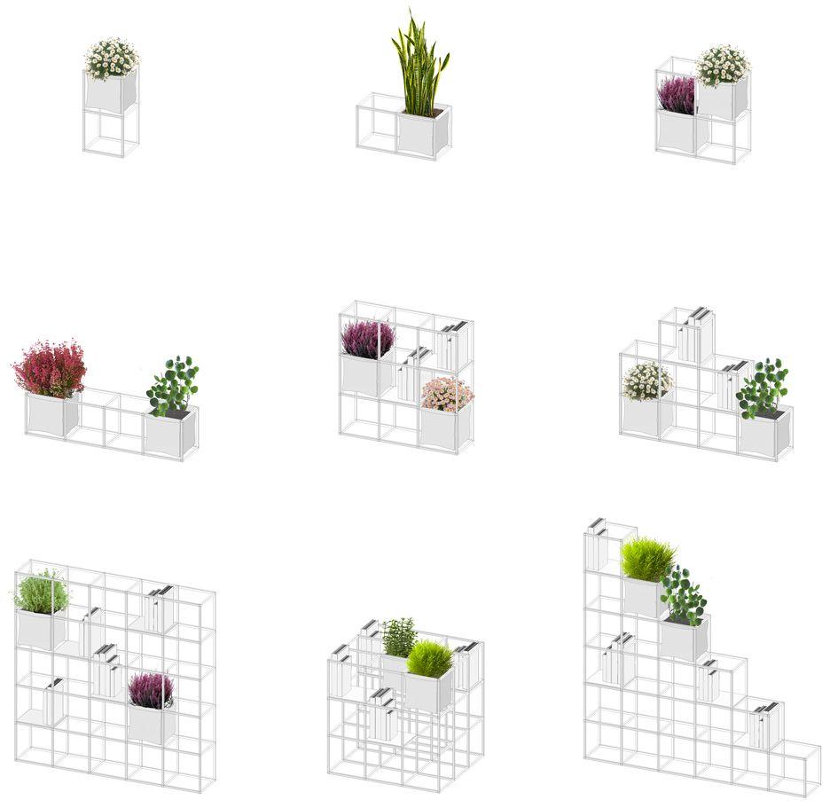 ipot modular planting system supercake. Supercake Combines Shelves And Plant Pots In Modular System Ipot Planting K