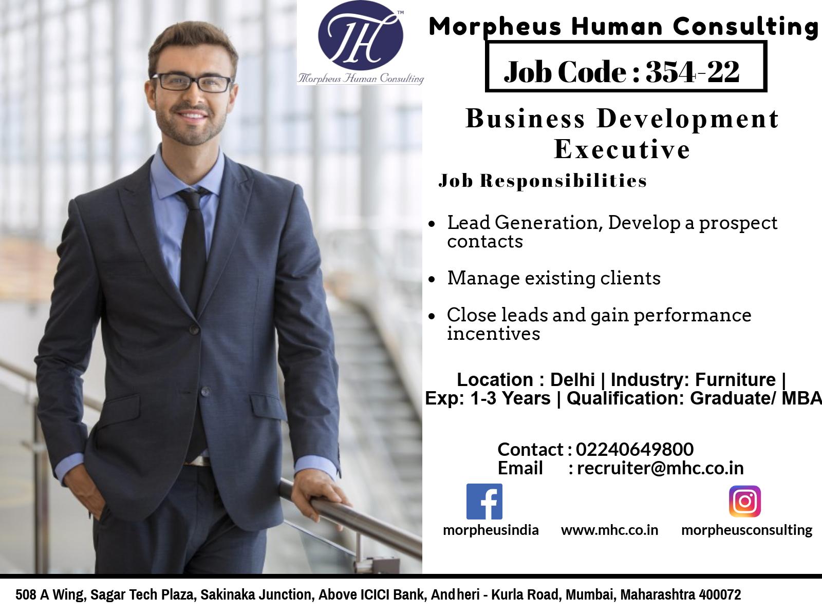 Business Development Manager 351 22 Morpheus Consulting Executive Jobs Business Development Job Opening