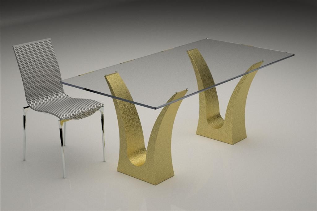 Base For Glass Table With Colored · Table BasesDining TableModern ...