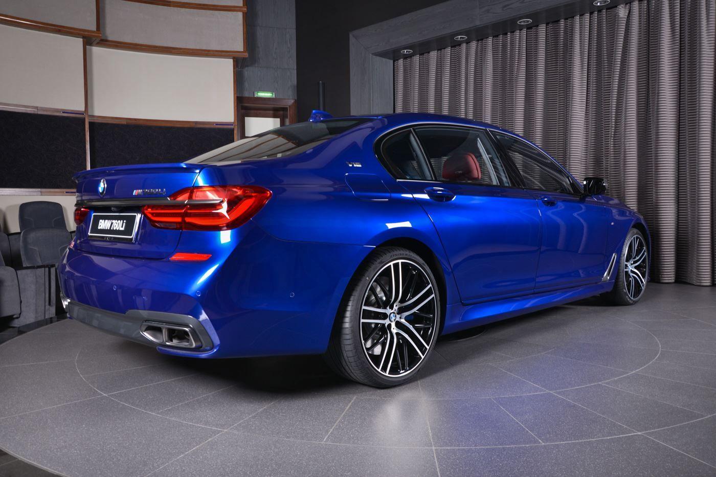 San Marino Blue Bmw M760li Looks Almost Perfect Carscoops Bmw Luxury Suv Bmw 7 Series