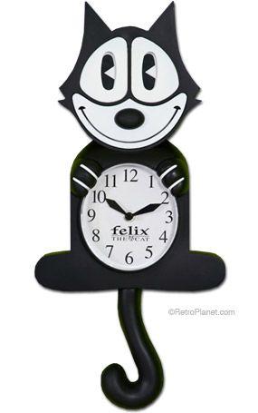 Felix The Cat Animated Motion Cartoon Wall Clock D I
