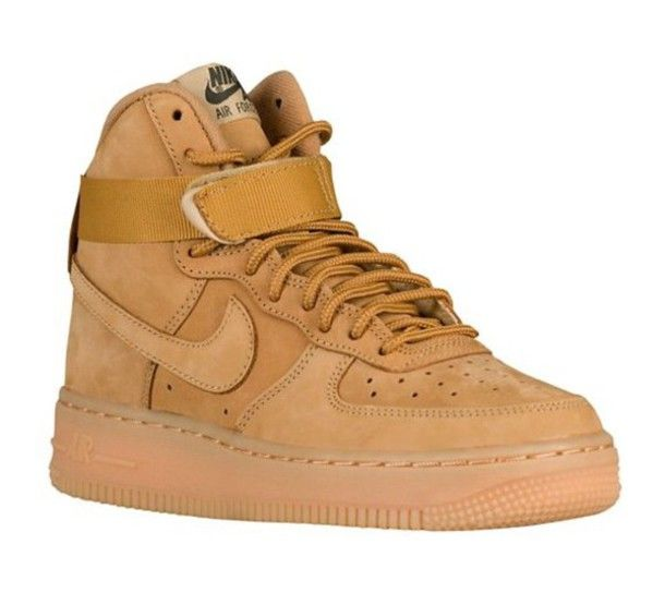 super popular 21479 7cc28 ... shoes nike nike air force 1 tan kids shoes kids fashion high top  sneakers ...