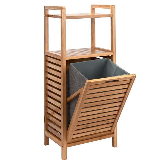 Big Bamboo Shelf With Laundry Basket Baby Room Ideas Baby Bamboo Basket Big Ideas Laundry Room Shelf In 2020 Waschekorb Badezimmer Diy Korb