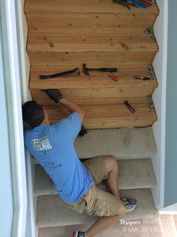 Best Diy Staircase Makeover Reveal Staircase Makeover 400 x 300